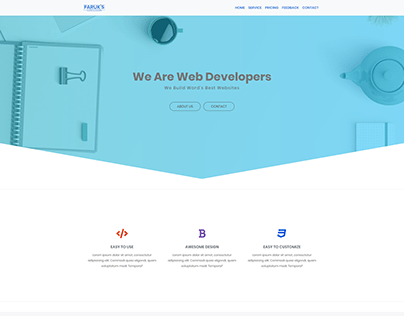 Responsive Website with HTML5, CSS3, Bootstrap4.5