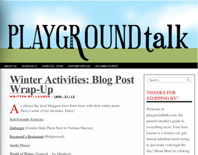 Playground Talk - Logo, Blog Banner & Postcard