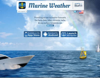 Marine Weather Website Design