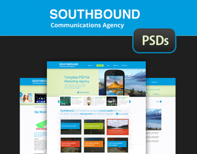 SouthBound - UI Responsive Template PSDs