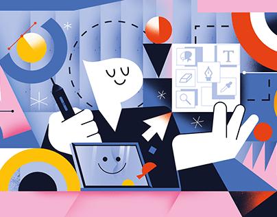 Super Hi Blog Illustrations