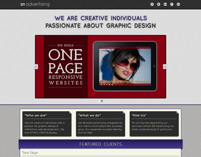Portfolio website of SN Advertising