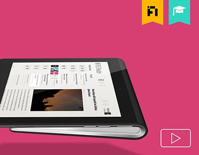 RSS Reeder, Windows 8 UI mobile application