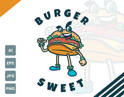 Burger Sweet - Logo Mascot