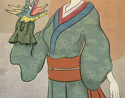 New Year Card 2012「辰年の女:Dragon Year Woman」