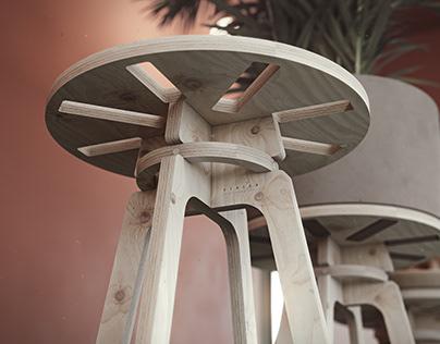 VENEER stool
