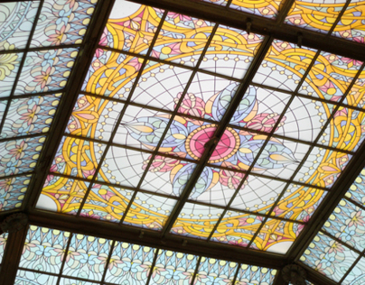 Stained-glass Dome of PRIME Steakhouse