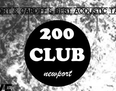 200 Club Newport - Poster Designs