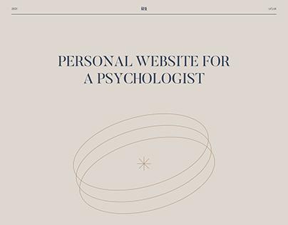 Concept website for a psychologist, coach