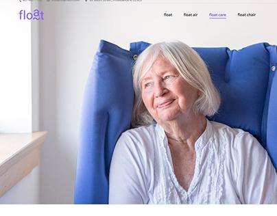Float pillow website design