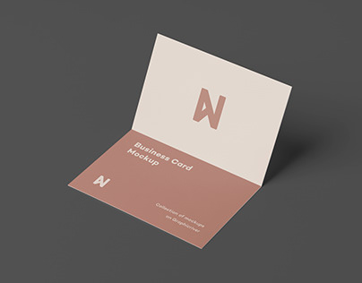 Bi-Fold Card Mock-Up