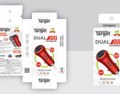 Mobile Car Charger & Home Charger Packaging