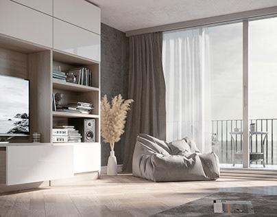 CGI \ Living room interior