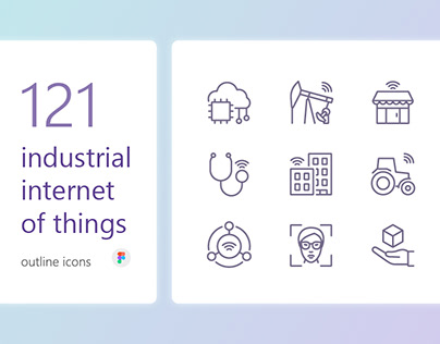 IIoT outline iconset