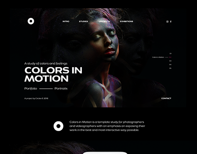 // Colors In Motion | PSD Template