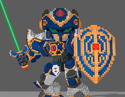 Game Assets: Robo Puzzle Smash - Dragon Knight Mech