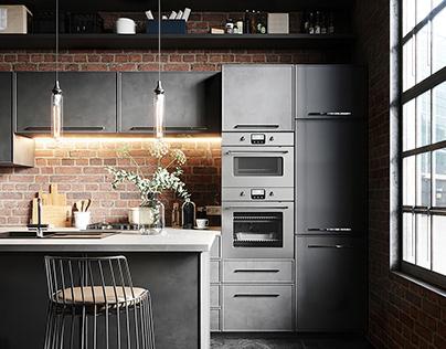 Loft Style Kitchen, Toronto, Canada