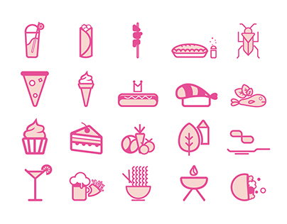 """""""Brussels Food Truck Festival"""" Icons"""