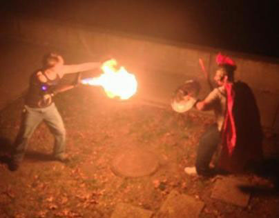 Flame thrower prop