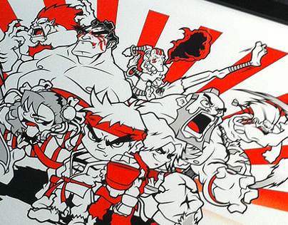 """Street Fighter """"Classic Warriors"""" Art Print by Lain 3"""