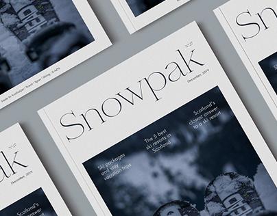 Snowpak magazine layout