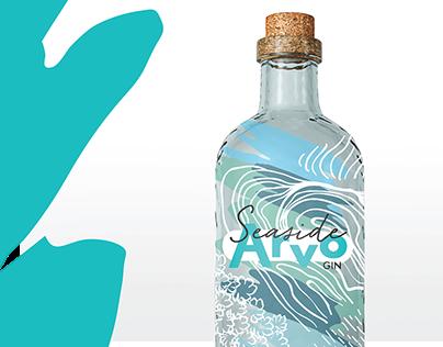 Seaside Arvo - Perth, WA Gin Bottle Design