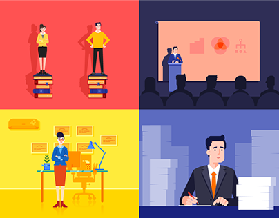 Business Themed Illustrations