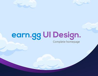 Earn.GG Homepage UI
