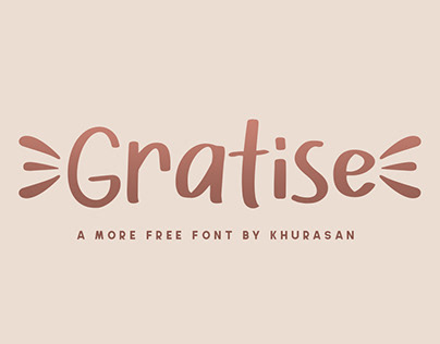 Gratise free font for commercial use