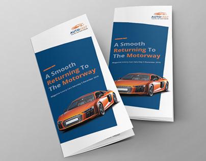 Auto Car Tri-fold Brochure