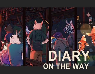【途中日记】Diary on the way 系列插画