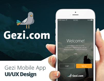 Gezi | iPhone App Design