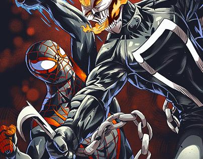 Spidey VS Ghost Rider