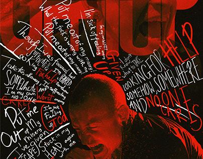 Chester Bennington - Typography Visual Art