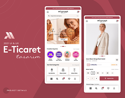 Kurumsal Market E-Ticaret UI&UX Design