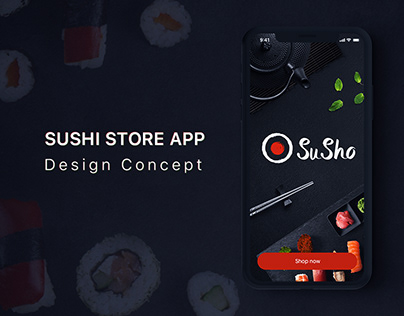 SuSho - Sushi shop App design concept