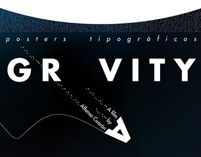 Póster Tipográfico · GRAVITY ·