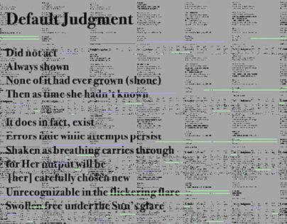 WORDS NO. 3 [default judgment]