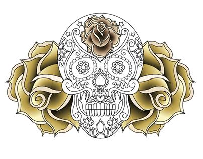Calavera - Rose Skull