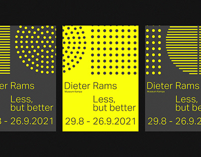 Dieter Rams // Exhibiton concept