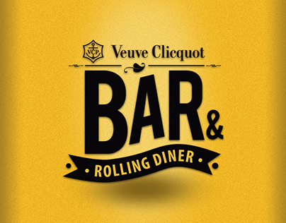 VEUVE CLICQUOT BAR & ROLLING DINNER Art Direction