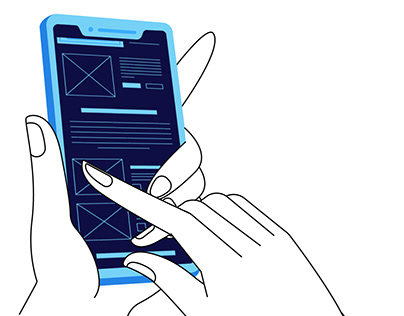 Hand Gesture Scrolling Animation