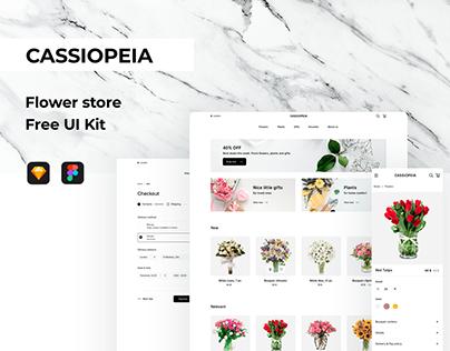 Cassiopeia | Flower store | Free UI kit