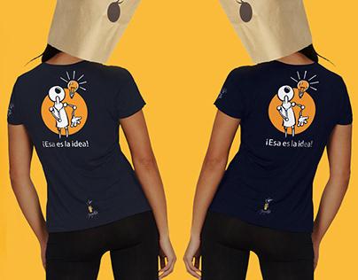 Camisetas Amedina. Línea amarilla