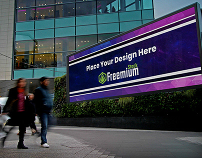 Free Mega Landscape Billboard Mockup