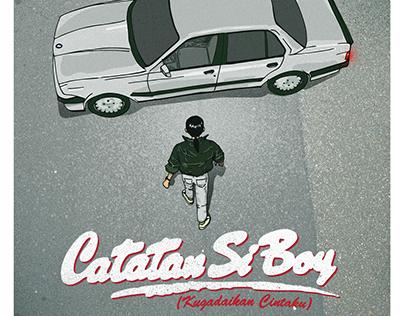 "Ilustrasi Poster Film ""Catatan Si Boy"" (1987)"