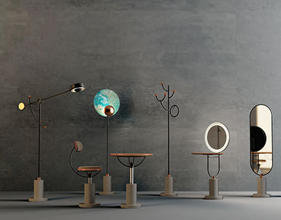 """Chu Chen"" concrete furniture collection"