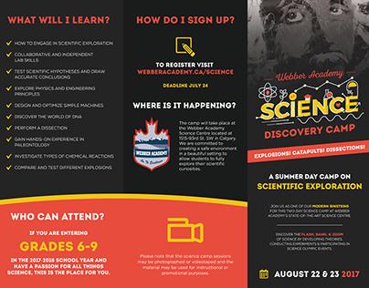 Webber Academy Science Camp Brochure