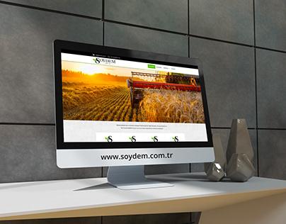 Soydem Tarım Ürünleri Web Tasarım Çalışması