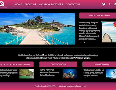 Travel Website Mockup